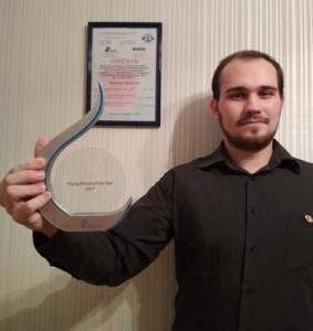 IABM Young Person of the year award winner - Aleksei Bukhalov