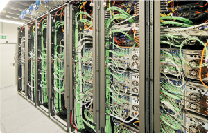 SFully equipped racks as far as the eye can see – Sky's central equipment room