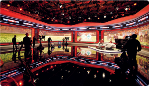 The heart of the main studio – the impressive LED wall