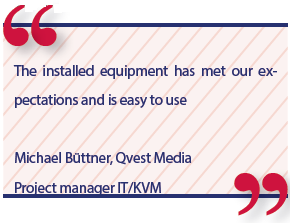 Michael Büttner, Qvest Media Project manager IT/KVM