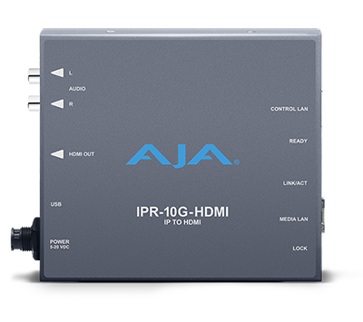 TAG Labs Certifies AJA IPR-10G-HDMI SMPTE ST 2110 to HDMI