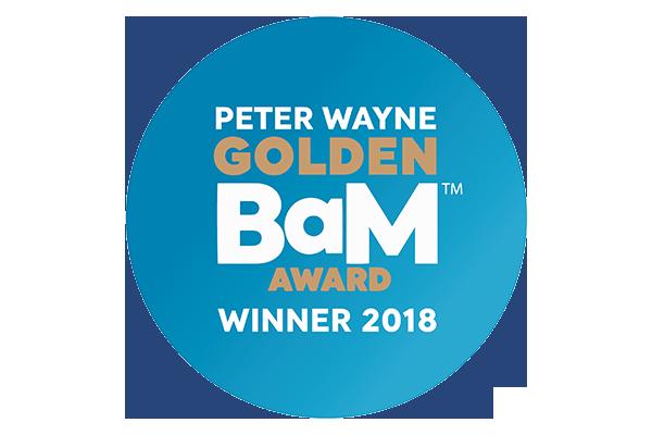Peter Wayne Golden BaM Award 2018-Winner
