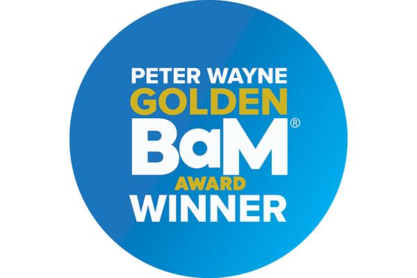 Peter Wayne Golden BaM Award 2019-Winner